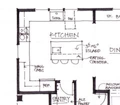Galley Kitchen With Island Dimensions New Dancot Layout Plans Andrea Design