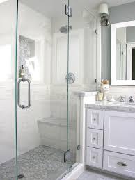white bathroom tile shower ideas