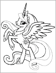 My Little Pony Coloring Pages Princess Luna Filly Page Printable Book Stock Colori