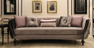 casa padrino luxus barock sofa grau schwarz silber 265 x 90 x h 85 cm wohnzimmer sofa mit edlem samtstoff barock möbel