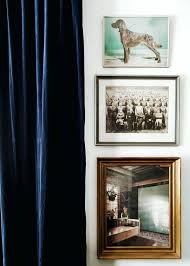 Blue Velvet Drapes Add Drama Absolutely Part Of Reception Area To Navy Curtains Thick Tie Into The Dining Room Or White Sheers
