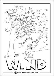 Image Of Windy Day Colouring Pagefor After