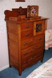 Dresser Mirror Mounting Hardware by Antique Oak 5 Drawer High Boy Dresser Downstairs Bedroom Lake