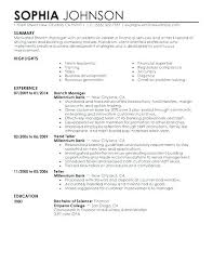 Resume Examples For Business Banking Also Personal Banker Sample Template Templates Investment
