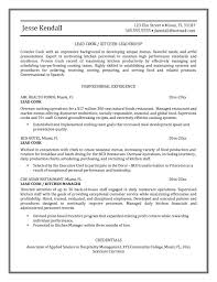 Sle Resume For Chef Download Kitchen Manager Objective Sles Cook Exle Exles Of Resumes