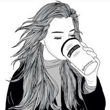 28 Collection Of Tumblr Girl Drawing Starbucks