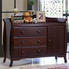 Baby Changer Dresser Combo by Espresso Dresser For Nursery Most Recommended Design Dark Brown