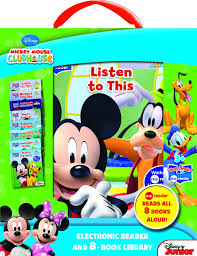 Mickey Mouse Bathroom Set Amazon by Mickey Mouse Clubhouse Electronic Reader And 8 Book Library Story
