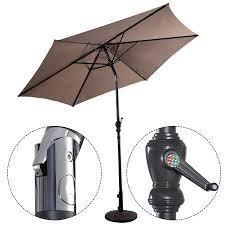 9 Ft Patio Umbrellas With Tilt by Costway 9ft Patio Umbrella Patio Market Steel Tilt W Crank