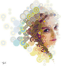 Cool Girl Circle Combination Abstract Wallpaper Here You Can See Or Download Picture Of