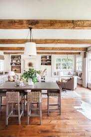InteriorAmusing Colonial Home Decor With Exposed Wood Ceiling And White Drum Lamp Also Wicker