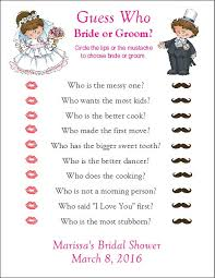 Guess Who Bride Or Groom Bridal Shower Game Instant