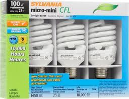 sylvania皰 23w daylight twist compact fluorescent light bulbs 3