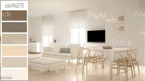 einrichtungskonzept architekt designer modernes skandinavisches wohnzimmer entwurf mit farbpalette hintergrundidee stockfoto und mehr bilder