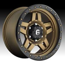 100 20 Inch Truck Rims Fuel Anza D583 Matte Bronze W Black Ring Custom Wheels