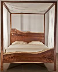 Wood Canopy Bed Frame Queen For Queen Bed Frame With Storage
