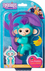 WowWee Fingerlings Baby Monkey Zoe Blue 3706