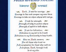 Police ficer s Prayer Thin Blue Line Flag