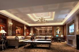 Amazing Big Living Room Luxury With European Style Gypsum Ceiling For Modern Home Design