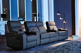 cinema chair 4 seater relax sofa home cinema chair tv sofa relaxing home cinema black faux leather adjustable reclining function