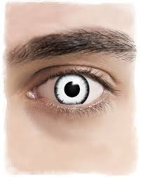 Theatrical Contacts Prescription by Lunatic Contact Lenses White Buy Cool Effect Lenses Cheap Online