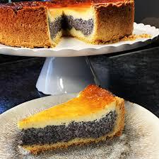 mohn schmand kuchen mit vanille und creme fraiche tasty