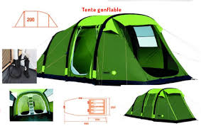toile de tente 4 chambres grande tente familiale gonflable 4 places trigano