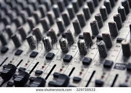 Digital Music Studio Mixer For Recording Or Radio Tv Broadcast Background
