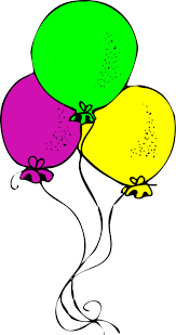 Birthday Balloons Clip Art Hostted