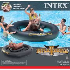 Inflatable Tubes For Toddlers by Intex Inflatabull Rodeo Bull Ride On Float Walmart Com