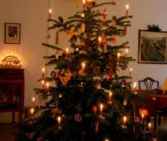 old fashioned christmas tree with candles lovely a simple