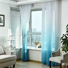 transparente gardinen blau 200 100cm deloito voile