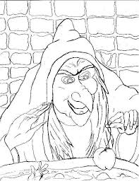 Witch Scary Halloween Coloring Pages