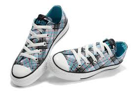 converse all plaid fashion converse all plaid low water blue