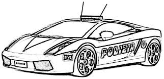 Police Car Coloring Pages Free Printables