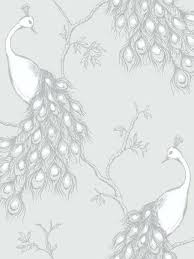 Wallpaper Silver And White New Fine Decor Empress Peacock Shabby Chic Grey