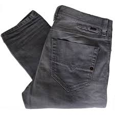 diesel tepphar 0853t slim carrot stretch grey wash jeans diesel
