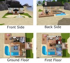 Sims 3 Floor Plans Small House by Small Sims 3 Beach House Blueprints All About House Design