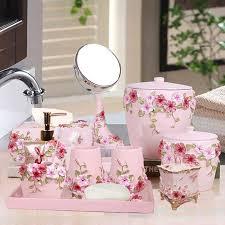großhandel fünfer badezimmer set europäischen wash zubehör set badezimmer lieferungen kit wedding gift tray make up spiegel tissue zwinz23 43 6