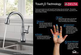 Delta Touch Faucet Battery Location by Faucet Com 19922tsssddst In Brilliance Stainless By Delta
