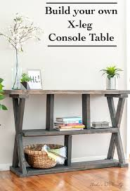 DIY Rustic X Leg Console Table That Is Easy And Quick To Build With The