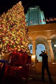 Los Angeles City Hall Christmas Tree
