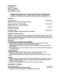 Counseling Resume Crisis Counselor 01 Musmus Me Rh Mental Health Sample Licensed