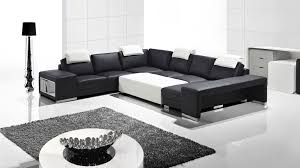 vente de canape vente canape cuir design noir blanc genesis collection mobiliermoss