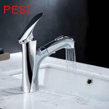 bad küche becken wasserhahn einzigen handgriff herausziehen spray waschbecken wasserhahn heiße und kalte wasser kran deck berg armaturen