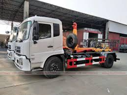 Dongfeng Tianjin Hook Arm Garbage Truck , China Hook Arm Garbage ...