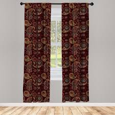 gardine fensterbehandlungen 2 panel set für wohnzimmer schlafzimmer dekor abakuhaus paisley naher osten tribual kaufen otto
