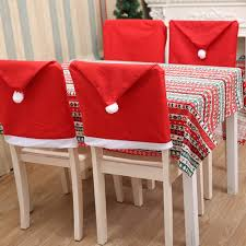 Black Duck Brand Santa Clause Hat Chair Covers, Red Hat Dinner Chair  Slipcovers Protector Sets For Christmas Banquet Holiday Festival Decor,  19.6