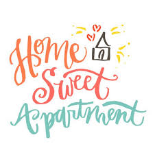 Home Sweet Apartment VV LETTERING DESIGN CO Online Store