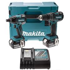 Makita Uk Production Tools by Makita Dlx2002mj 18v Li Ion Brushless Twin Kit Inc 2 X 4 0ah